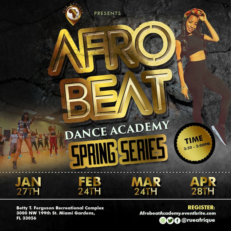 Afrobeat Dance Academy - Spring Series at Betty T  Fergusson