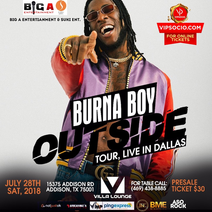 Burna Boy Live in Dallas Tx