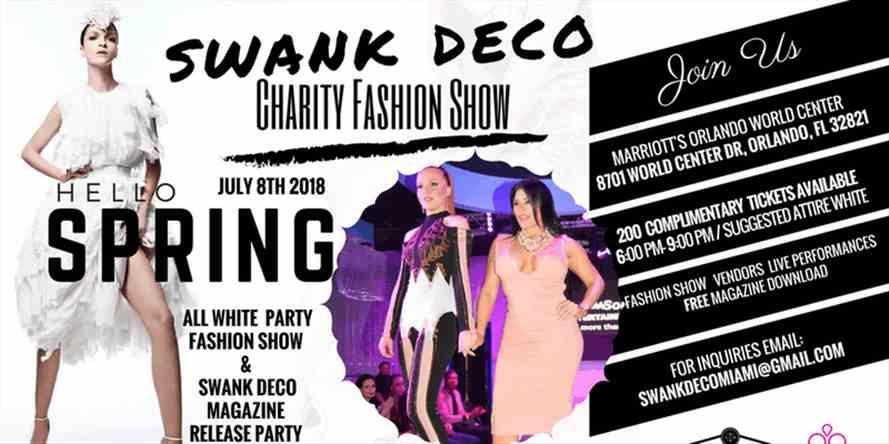 Swank Deco Fashion Show Orlando At Orlando World Center Marriott Sep 30 2018 Vipsocio
