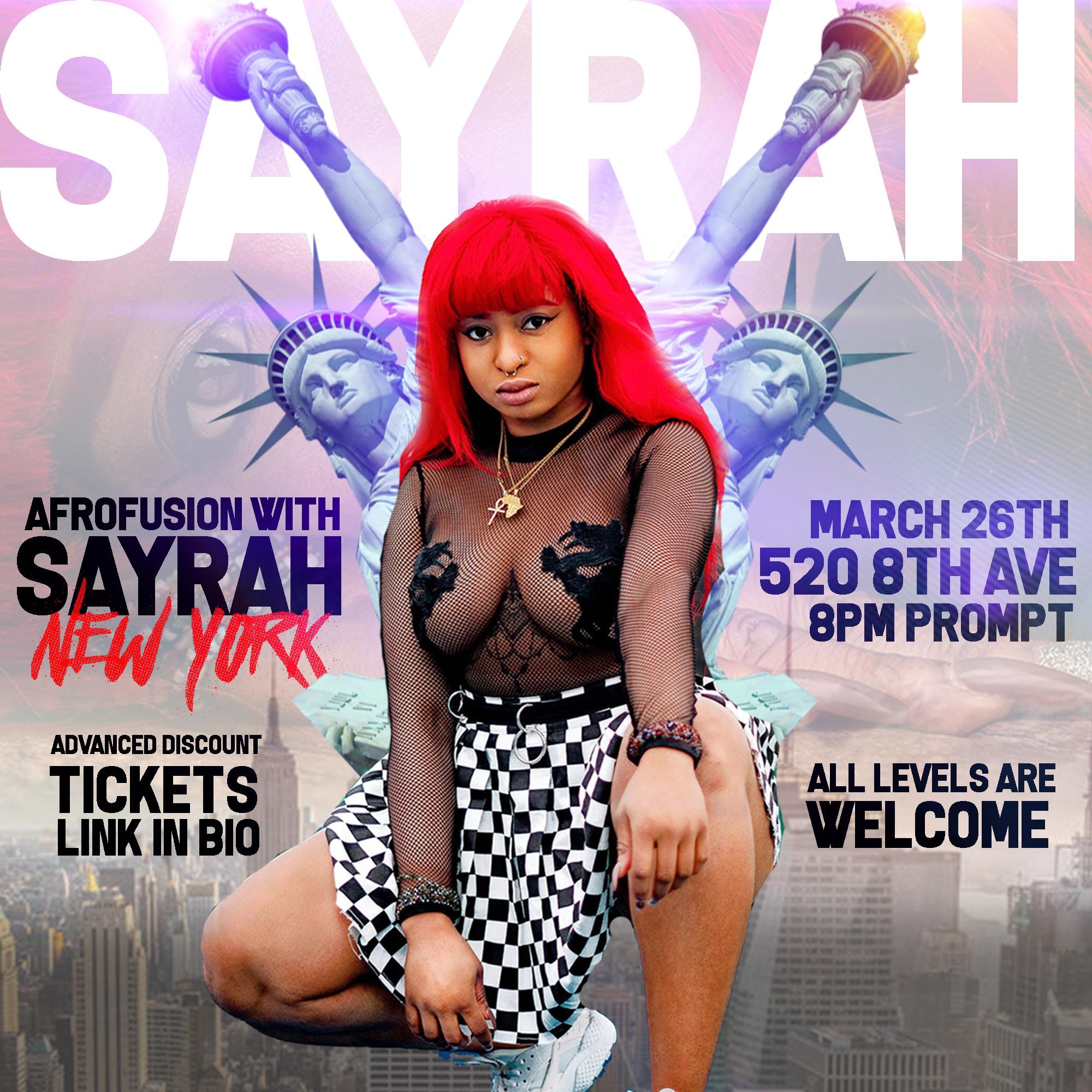 AfroFusion with SayRah NewYork