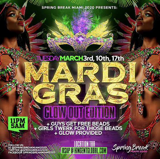 MARDI GRAS - The Biggest Beads Party in Miami