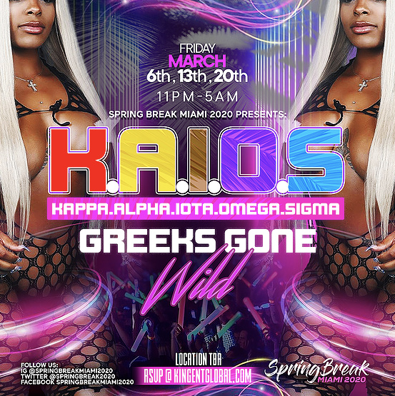K.A.I.O.S - Biggest Greeks Party in Miami