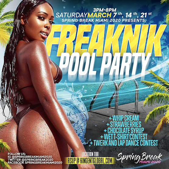 FREAKNIK POOL PARTY - The Livest/Wettest Pool Party in Miami