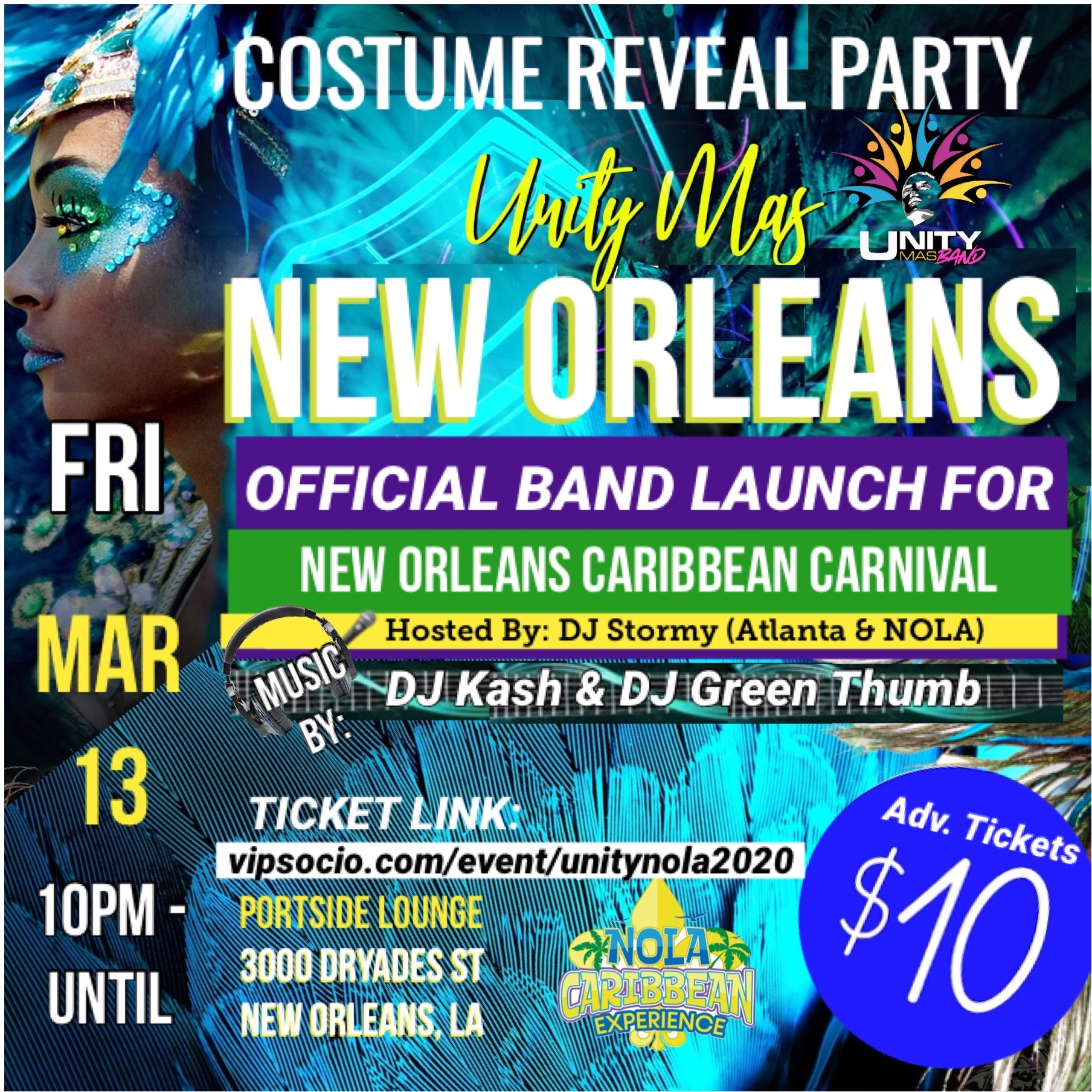 Unity Mas New Orleans Band Launch Party