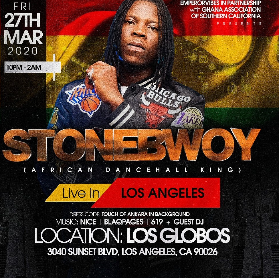 Stonebwoy Live POSTPONED - New date to be announced soon.