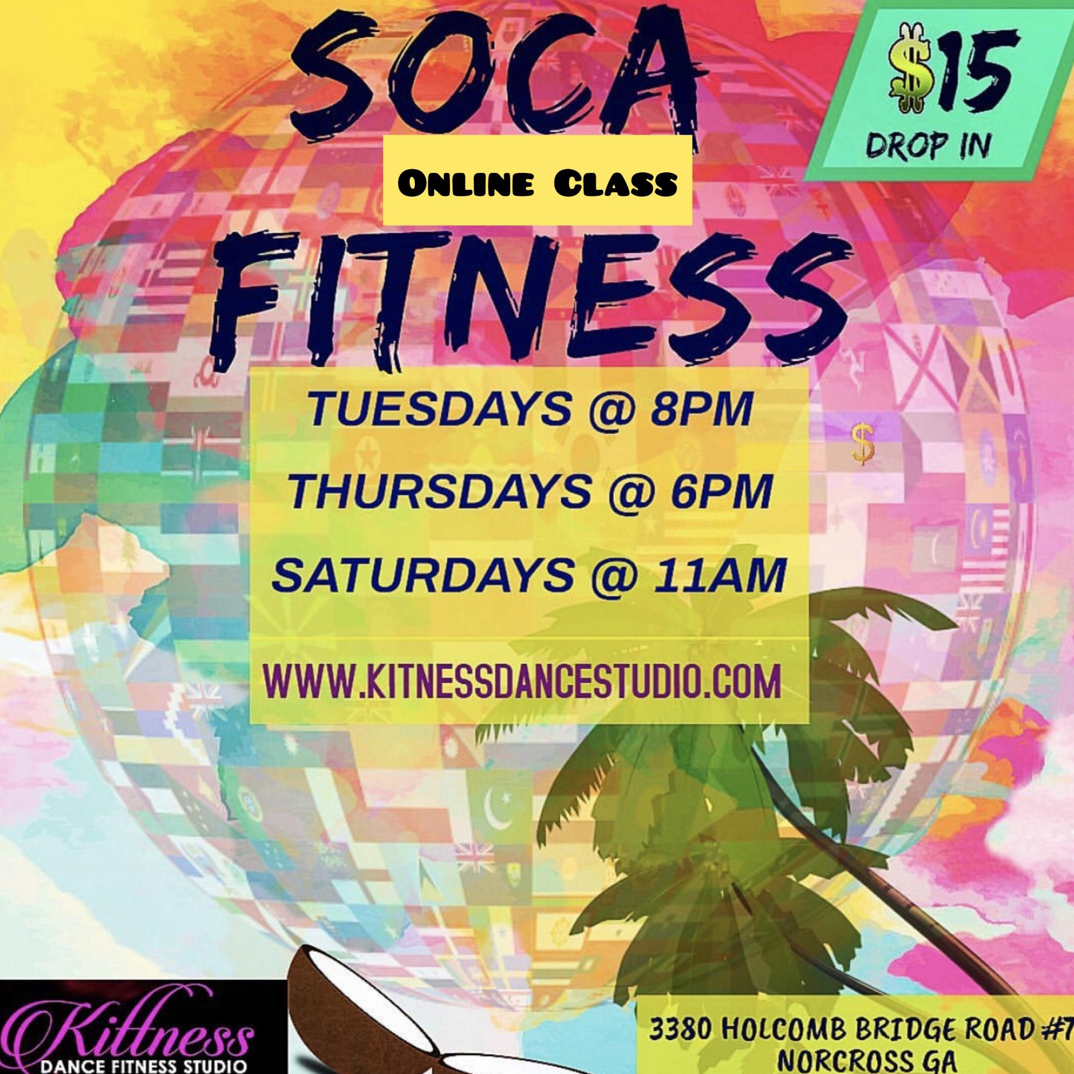 Soca Fitness Saturdays Online Class