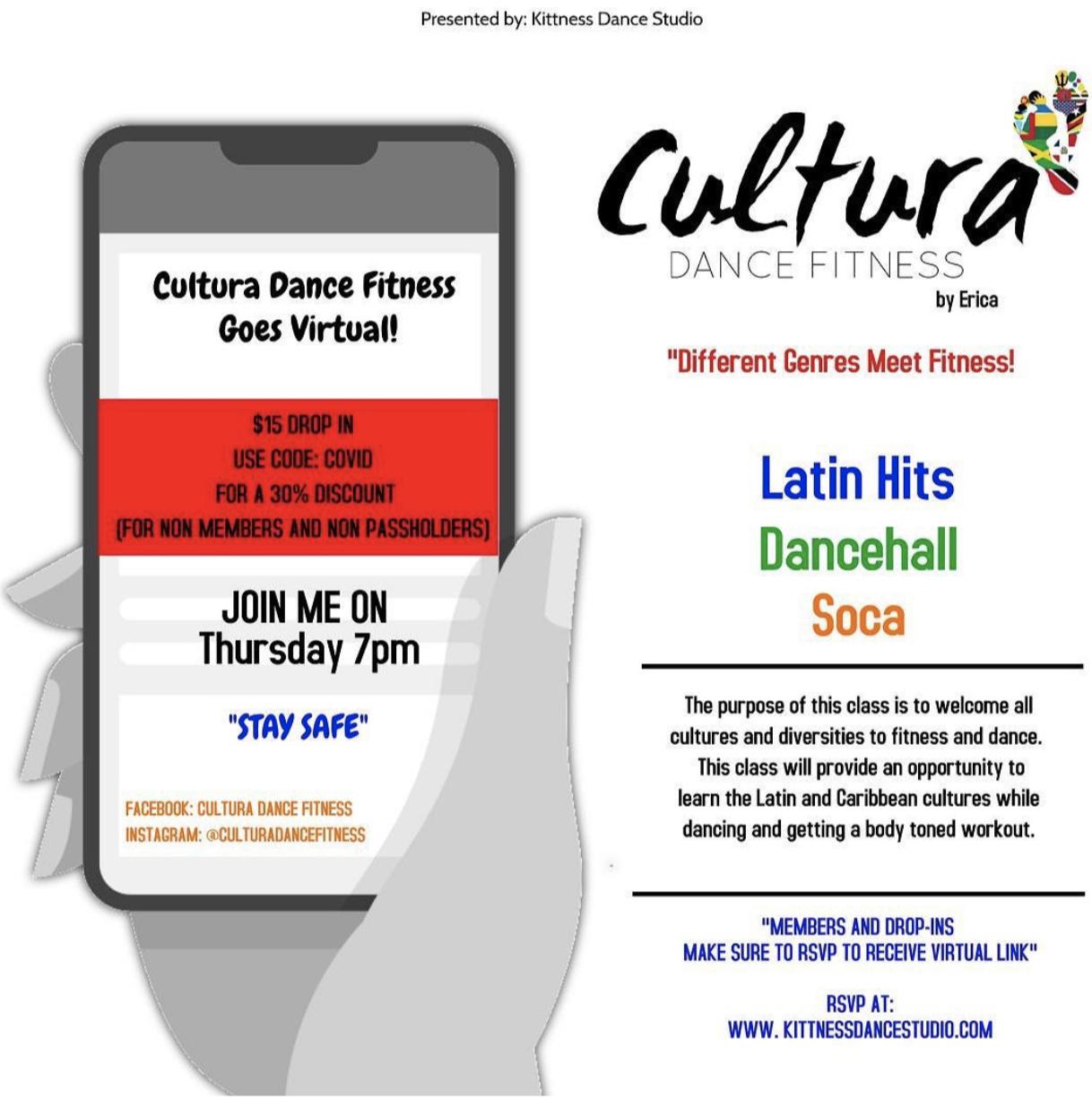 CULTURA DANCE FITNESS Online Class