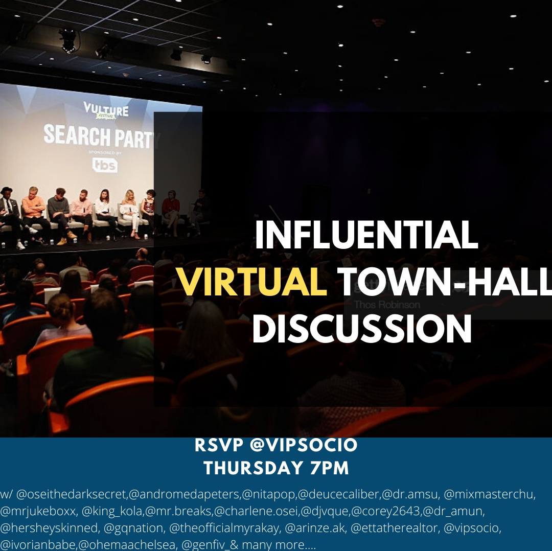 Influential Virtual Town-Hall Discussion