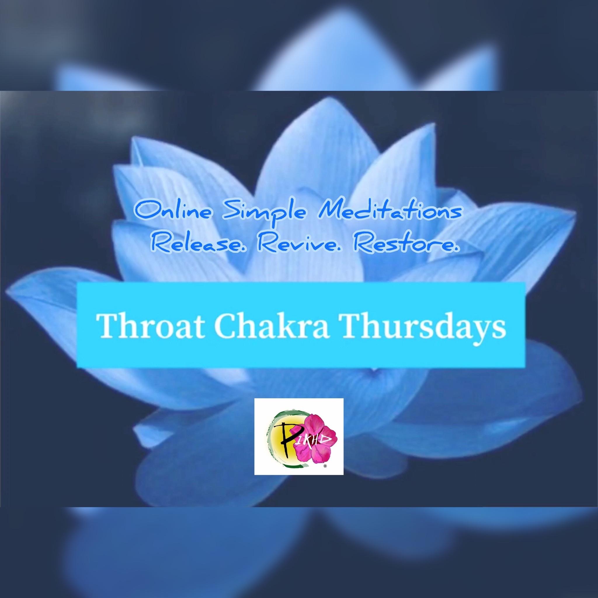 Throat Chakra Thursdays May7