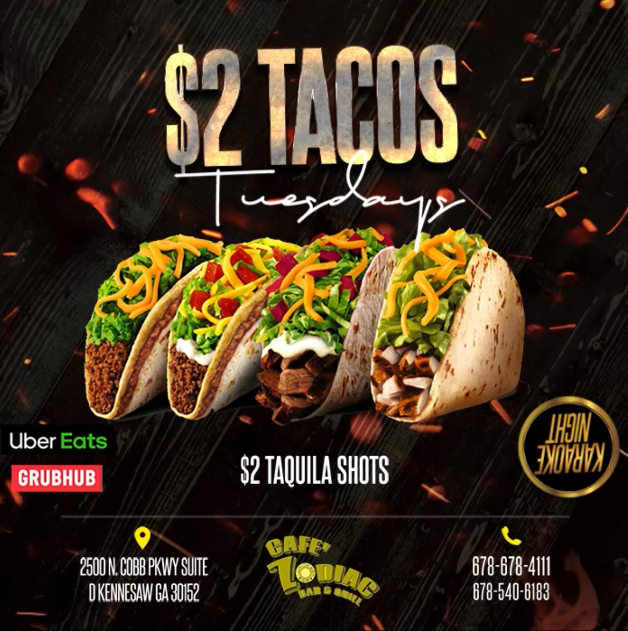 $2 TACOS Tuesdays