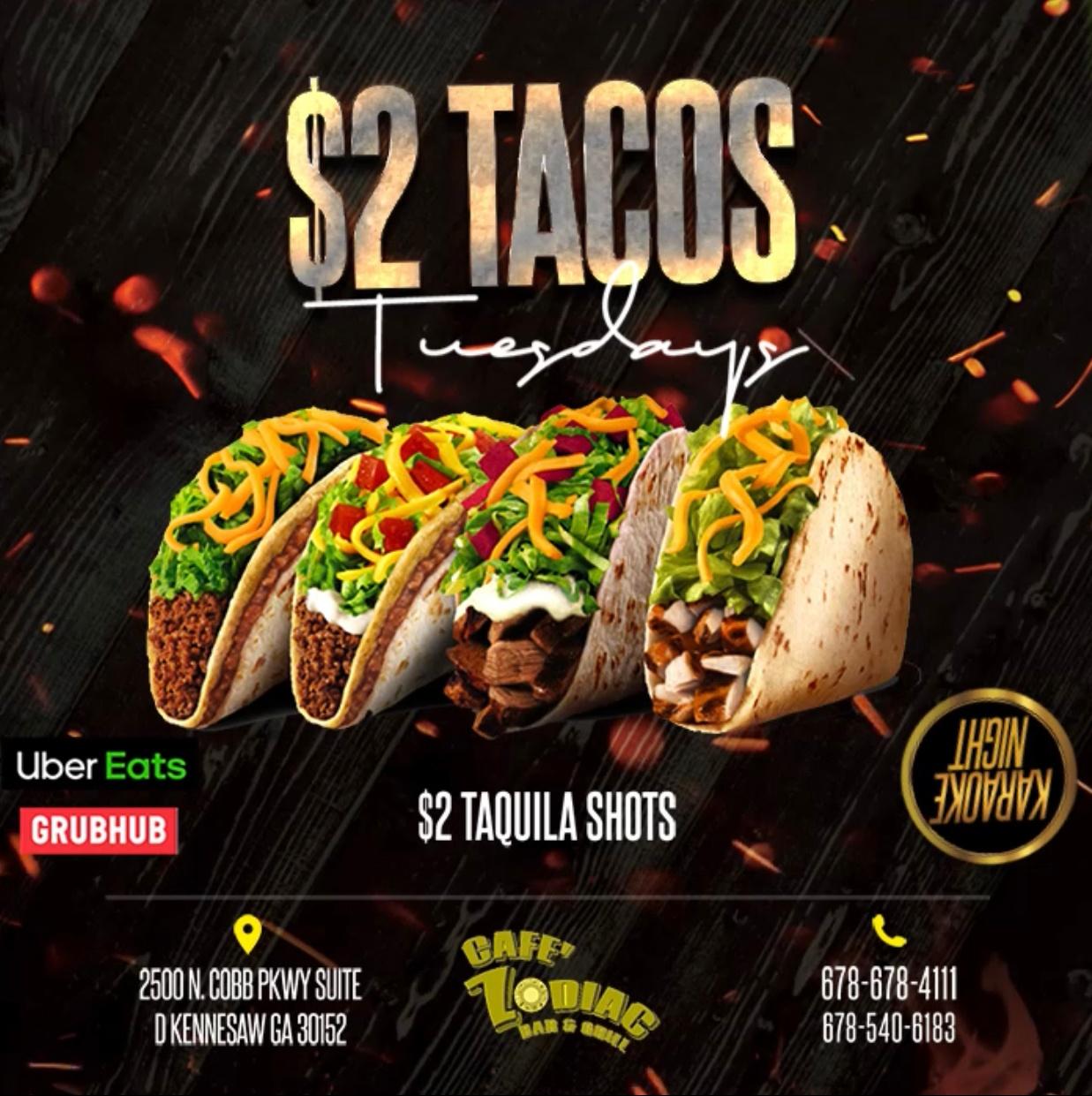 $2 TACOS Tuesdays