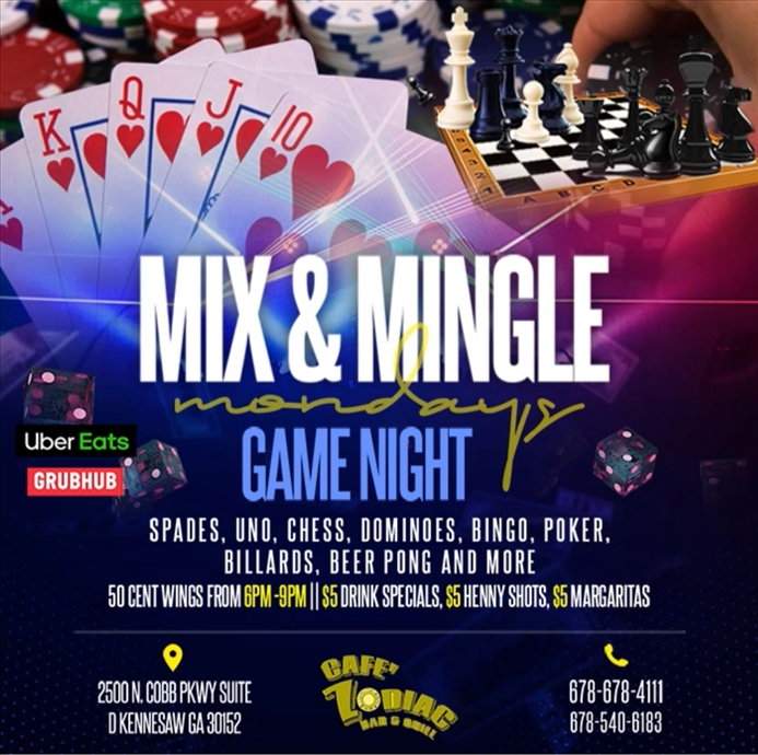 Mix & Mingle Mondays: Game Night