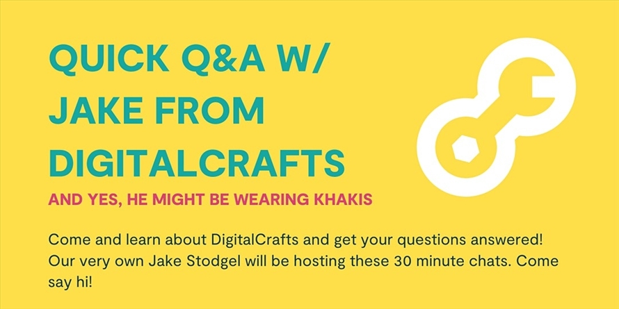 DigitalCrafts Quick Q&A w/ Jake