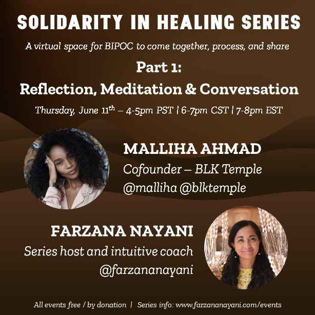 Solidarity in Healing: Series Launch & Support Gathering for BIPOC