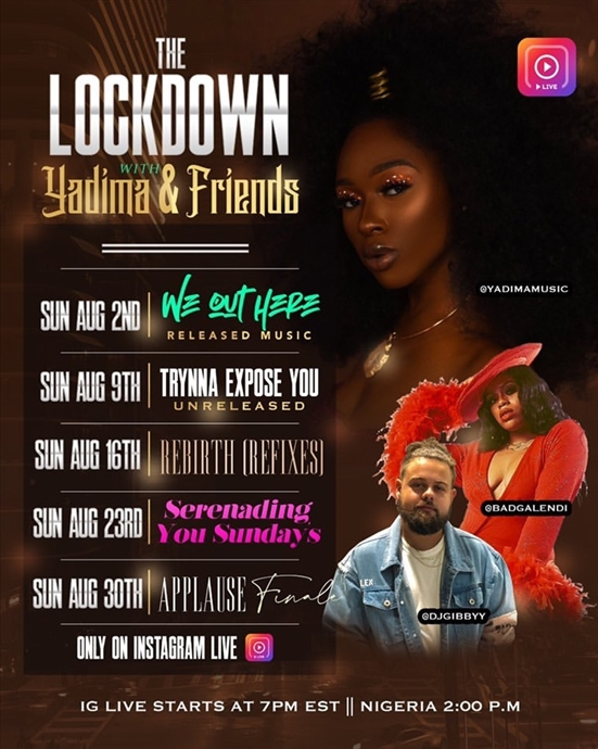 The Lockdown with Yadima and Friends 7PM EST
