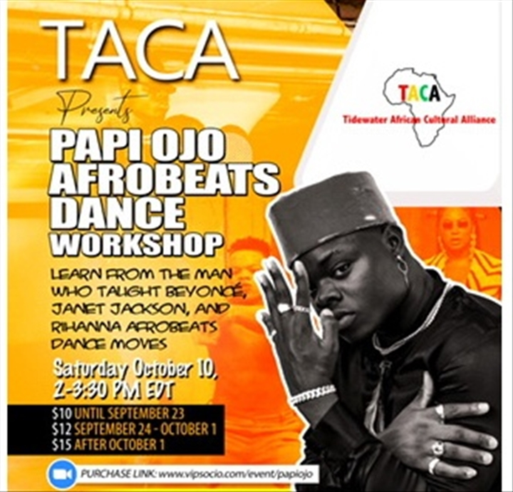 Virtual Afrobeats Dance Workshop with Papi Ojo
