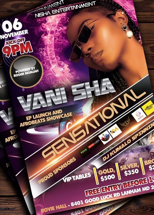 Vani Sha EP & Afrobeats Showcase