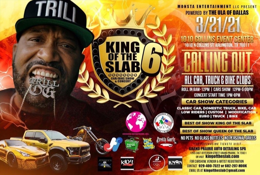 King of the Slab Car Show and Concert Powered by ULA Dallas