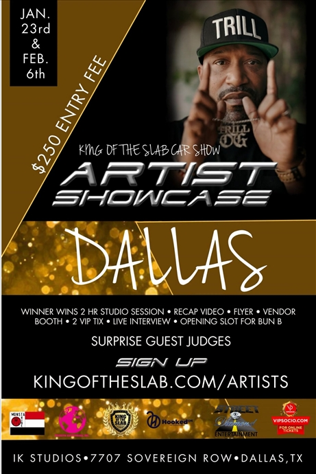 King of the Slab Dallas Artist Showcase Registration
