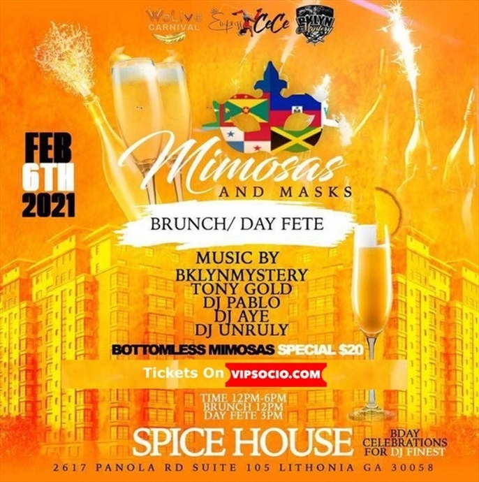Mimosas & Masks Brunch & Day Fete