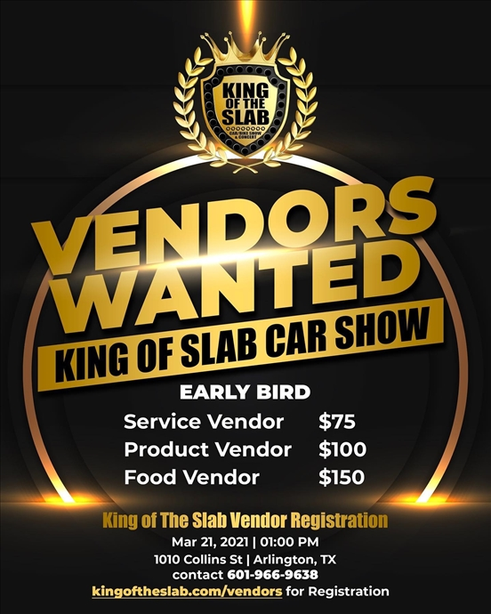 King of the Slab Vendor Registration