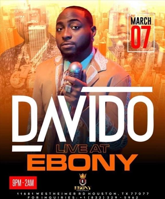 Davido Live at Ebony House of Vibes
