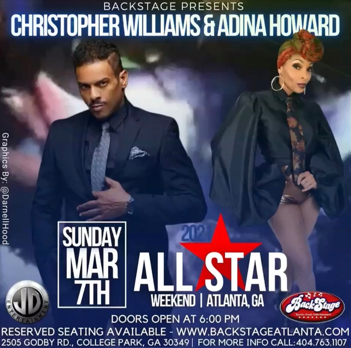 Backstage All Star Concert featuring  Christopher Williams and Adina Howard