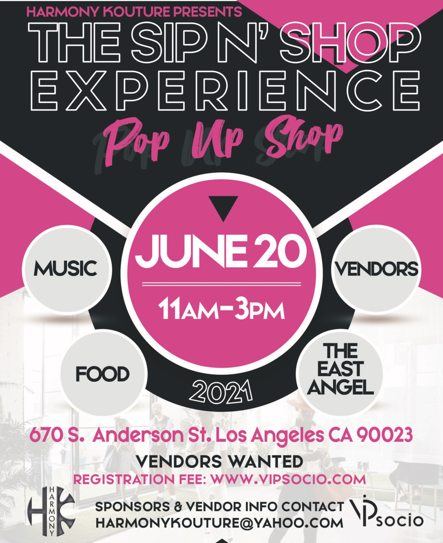The Sip and Shop Experience