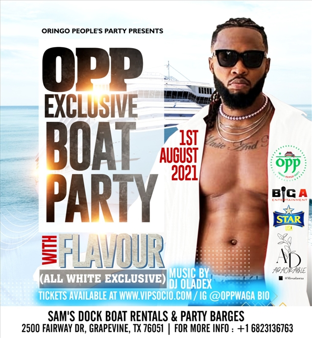 OPP EXCLUSIVE BOAT PARTY WITH FLAVOUR