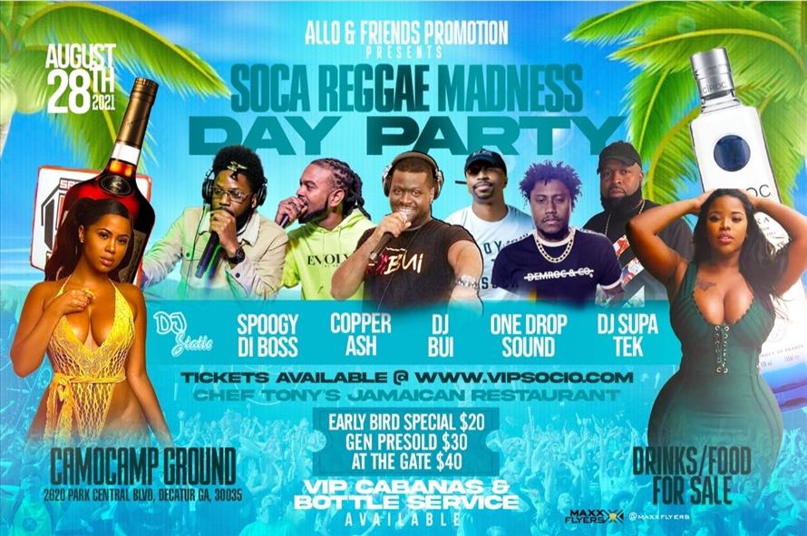 Soca Reggae Madness Day Party